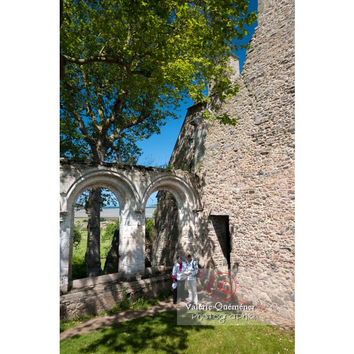 Ruines du réfectoire de l'abbaye de Beauport (MH) à Kerity, commune de Paimpol / Côtes d'Armor / Bretagne - Réf : VQFR22-0288 (Q2)