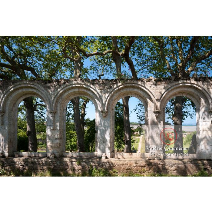 Arcades des ruines du réfectoire de l'abbaye de Beauport (MH) à Kerity, commune de Paimpol / Côtes d'Armor / Bretagne - Réf : VQFR22-0290 (Q2)