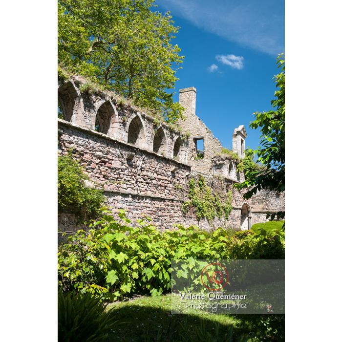 Extérieur des ruines du réfectoire de l'abbaye de Beauport (MH) à Kerity, commune de Paimpol / Côtes d'Armor / Bretagne - Réf : VQFR22-0291 (Q2)