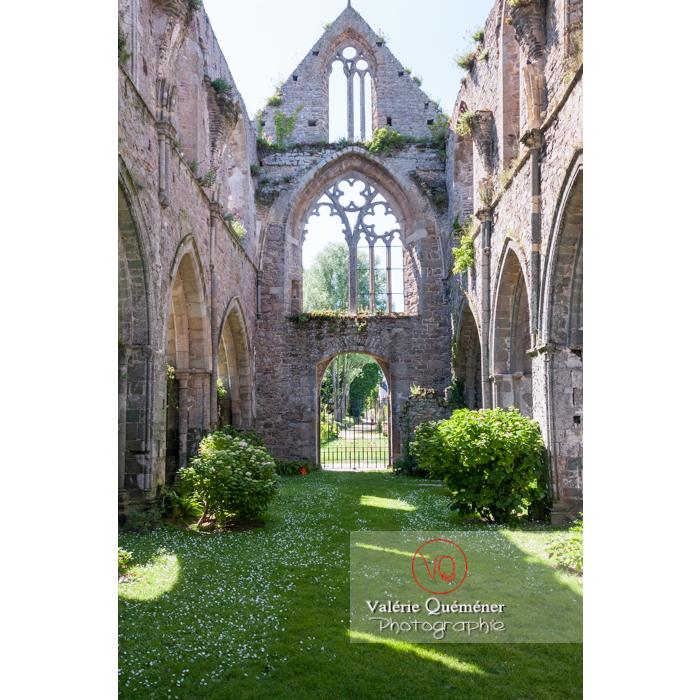 Ruines de la nef de l'abbaye de Beauport (MH) à Kerity, commune de Paimpol / Côtes d'Armor / Bretagne - Réf : VQFR22-0292 (Q2)