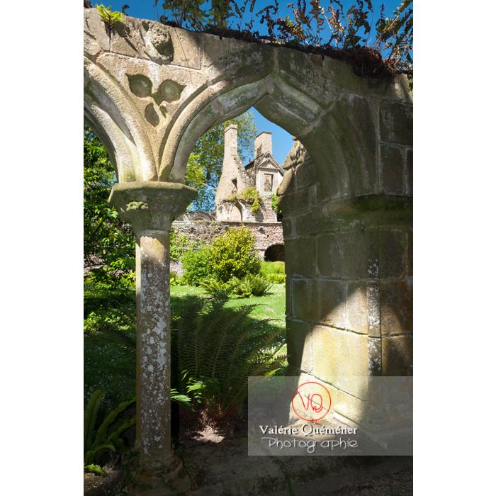 Arcades du cloître de l'abbaye de Beauport (MH) à Kerity, commune de Paimpol / Côtes d'Armor / Bretagne - Réf : VQFR22-0296 (Q2)