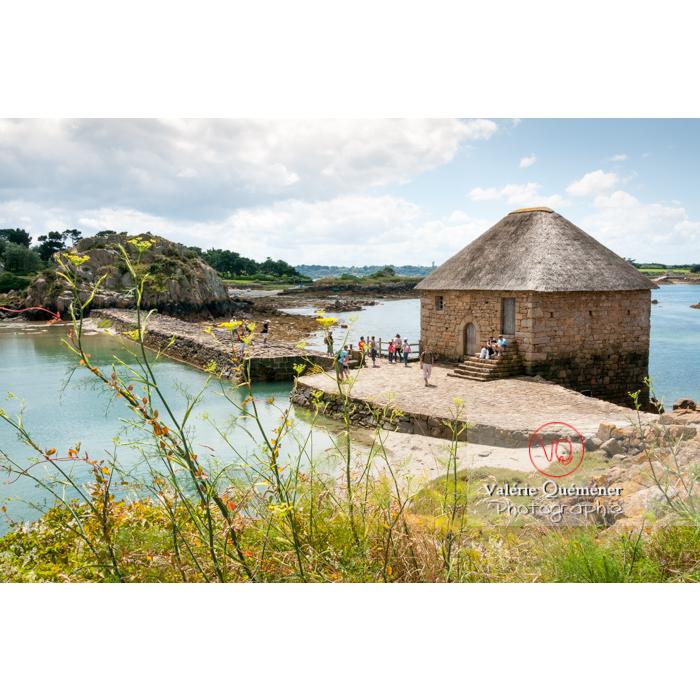 Retenue d'eau du moulin à marée du Birlot (MH) sur l'île de Bréhat / Côtes d'Armor / Bretagne - Réf : VQFR22-0391 (Q2)