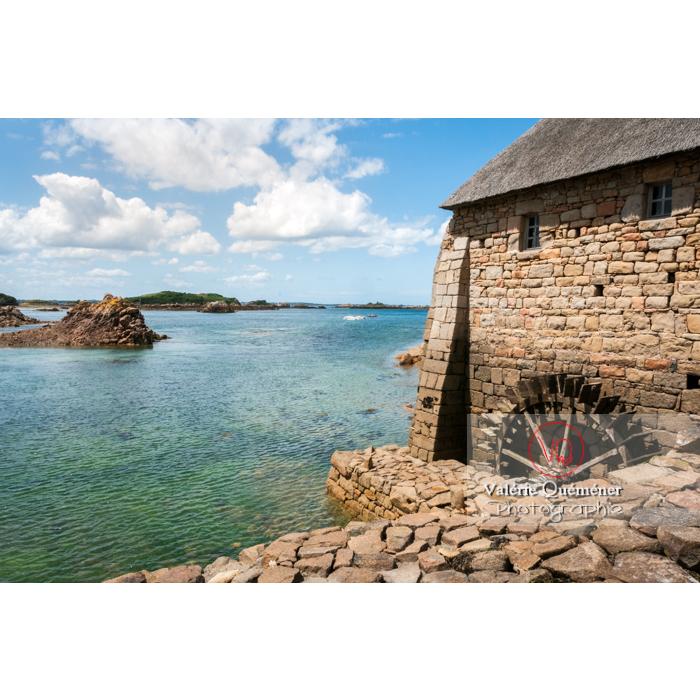 Retenue d'eau du moulin à marée du Birlot (MH) sur l'île de Bréhat / Côtes d'Armor / Bretagne - Réf : VQFR22-0394 (Q2)
