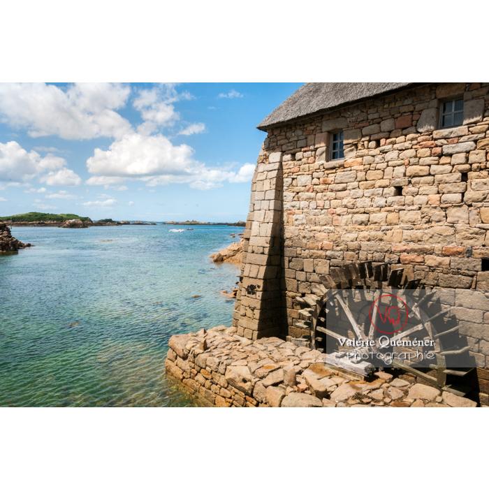 Moulin à marée du Birlot (MH) sur l'île de Bréhat / Côtes d'Armor / Bretagne - Réf : VQFR22-0396 (Q2)
