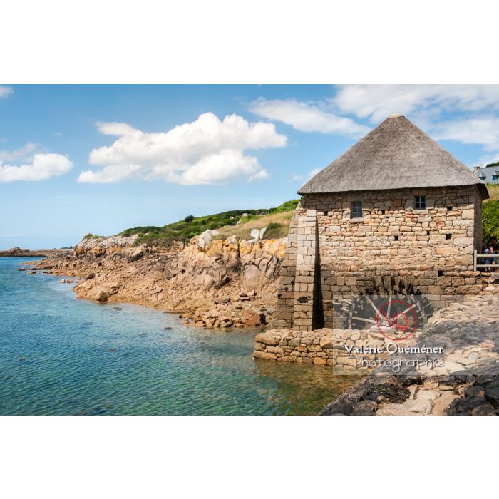 Moulin à marée du Birlot (MH) sur l'île de Bréhat / Côtes d'Armor / Bretagne - Réf : VQFR22-0397 (Q2)