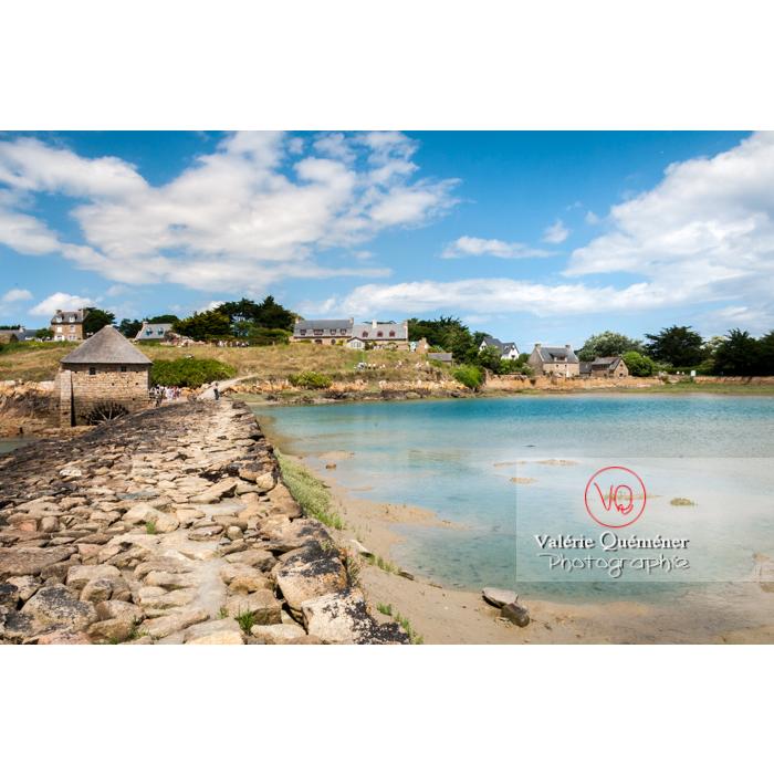 Retenue d'eau du moulin à marée du Birlot (MH) sur l'île de Bréhat / Côtes d'Armor / Bretagne - Réf : VQFR22-0400 (Q2)