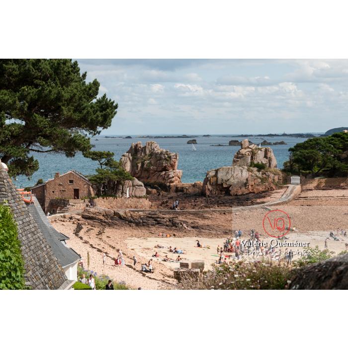 Plage de l'île de Bréhat / Côtes d'Armor / Bretagne - Réf : VQFR22-0427 (Q2)