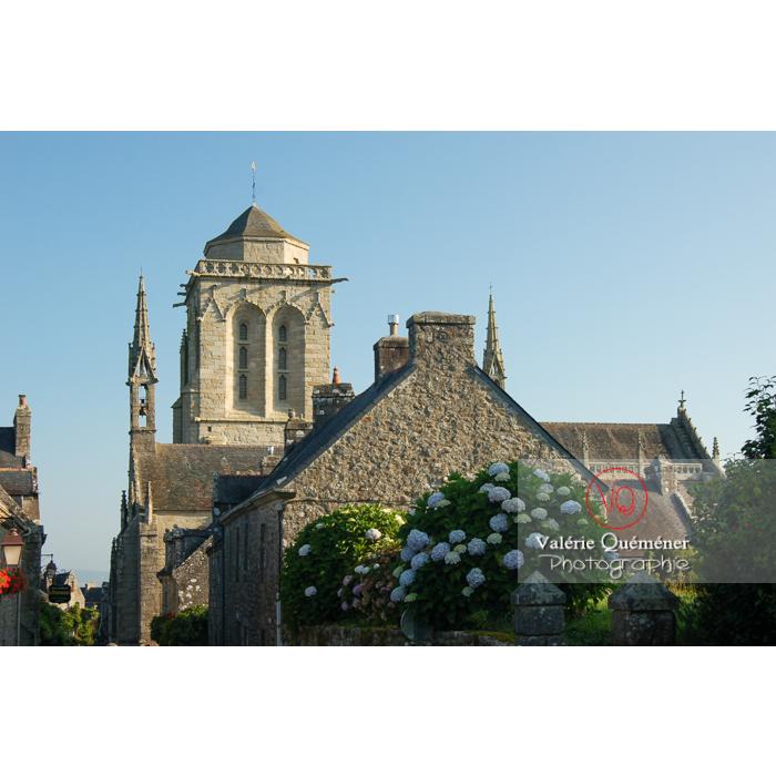 Locronan et son église Saint-Ronan / Finistère / Bretagne - Réf : VQFR29-0184 (Q1)