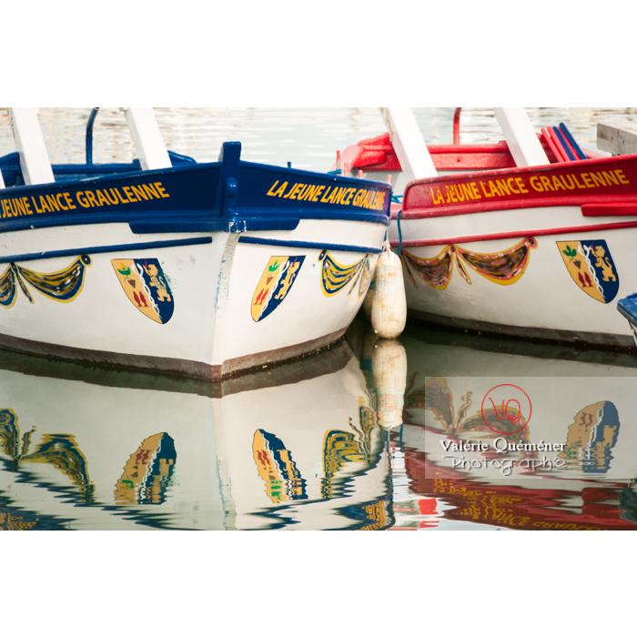 Barques de joute au port du Grau-du-Roi / Gard / Occitanie - Réf : VQFR30-0024 (Q2)