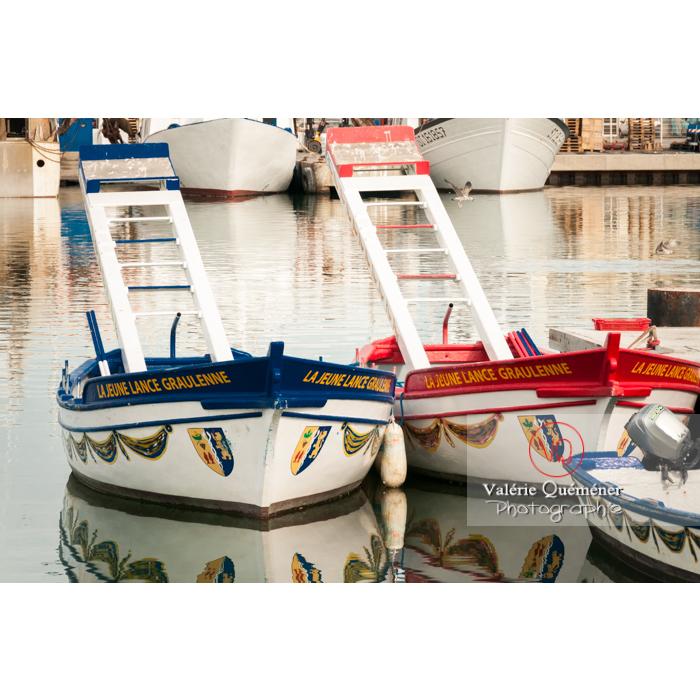Barques de joute au port du Grau-du-Roi / Gard / Occitanie - Réf : VQFR30-0025 (Q2)