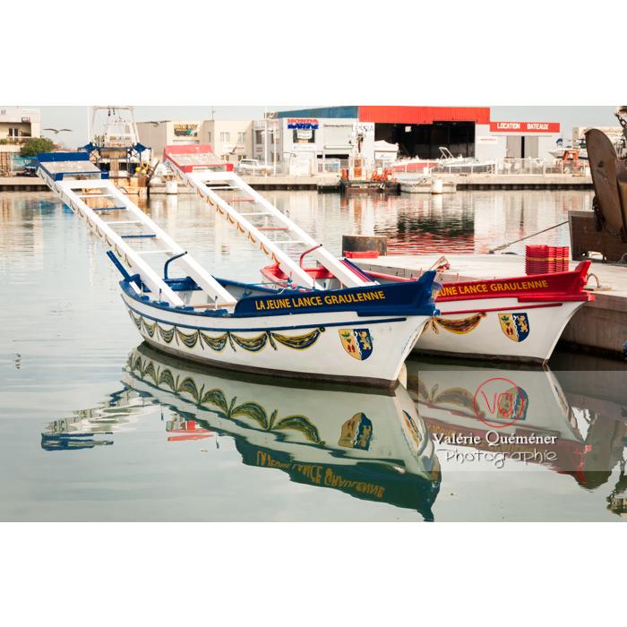 Barques de joute au port du Grau-du-Roi / Gard / Occitanie - Réf : VQFR30-0026 (Q2)