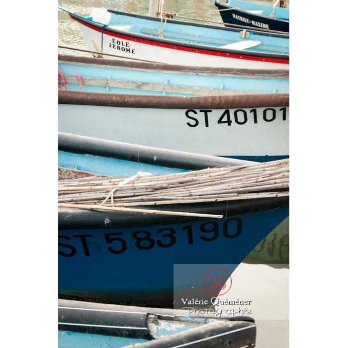 Enfilade de bateaux au port du Grau-du-Roi / Gard / Occitanie - Réf : VQFR30-0032 (Q2)