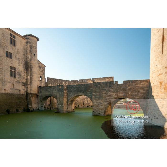 Douves dans la ville fortifiée d'Aigues-Mortes / Gard / Occitanie - Réf : VQFR30-0061 (Q2)