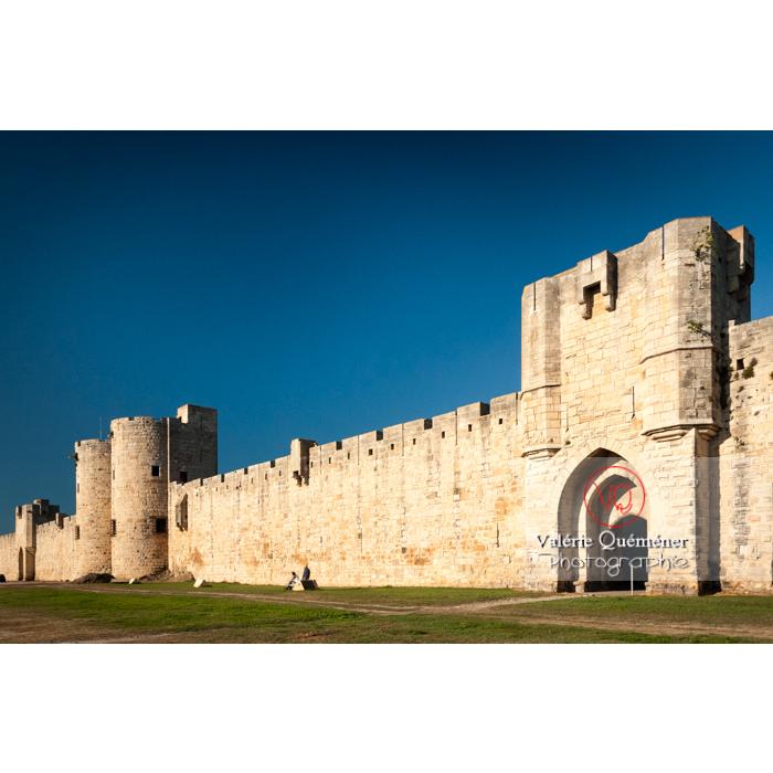 Remparts de la ville fortifiée d'Aigues-Mortes / Gard / Occitanie - Réf : VQFR30-0065 (Q2)