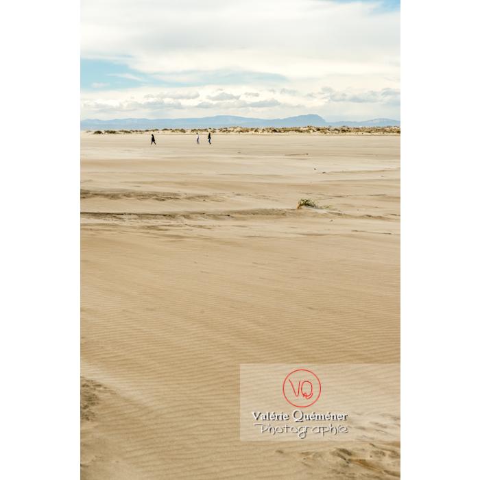 Plage de sable fin à la pointe de l'Espiguette, en petite camargue / Gard / Occitanie - Réf : VQFR30-0258 (Q3)