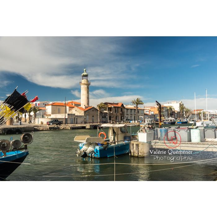 Phare et port du Grau-du-Roi / Gard / Occitanie - Réf : VQFR30-0284 (Q3)