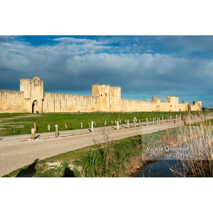 Remparts de la ville fortifiée d'Aigues-Mortes / Gard / Occitanie - Réf : VQFR30-0293 (Q3)