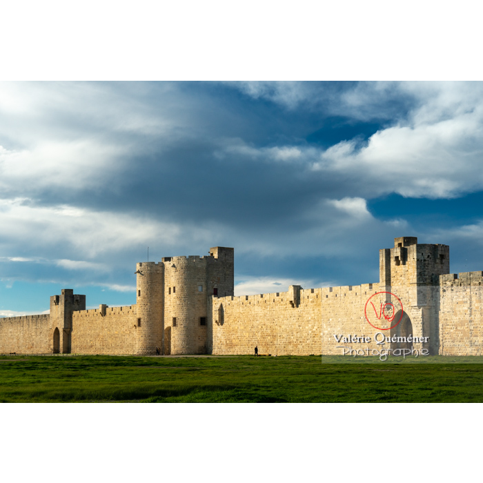 Remparts de la ville fortifiée d'Aigues-Mortes / Gard / Occitanie - Réf : VQFR30-0304 (Q3)