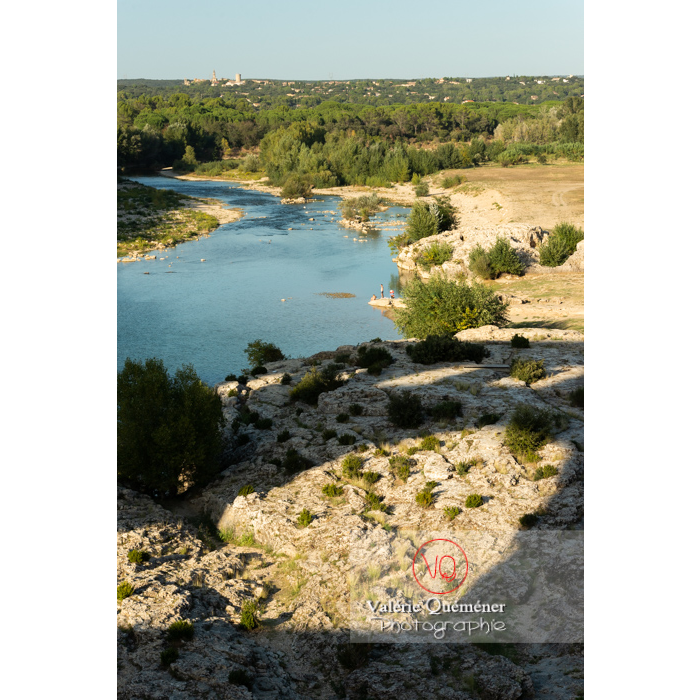 Site du pont du Gard (MH) dans la vallée du Gardon / Occitanie - Réf : VQFR30-0396 (Q3)