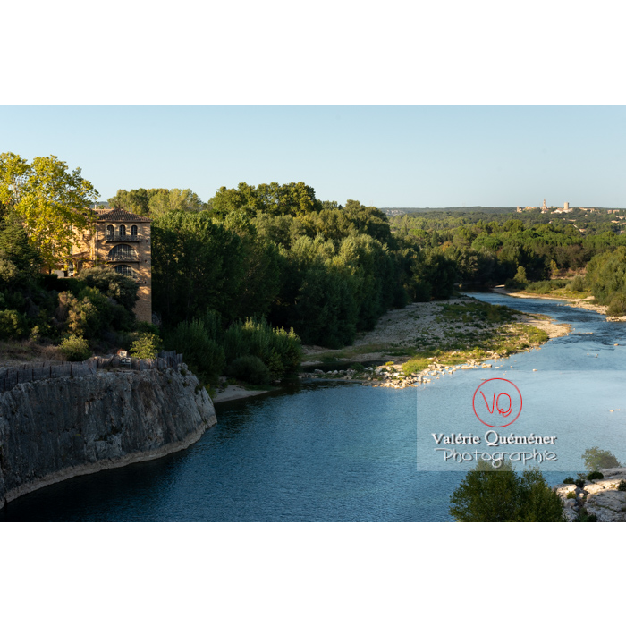 Site du pont du Gard (MH) dans la vallée du Gardon / Occitanie - Réf : VQFR30-0397 (Q3)