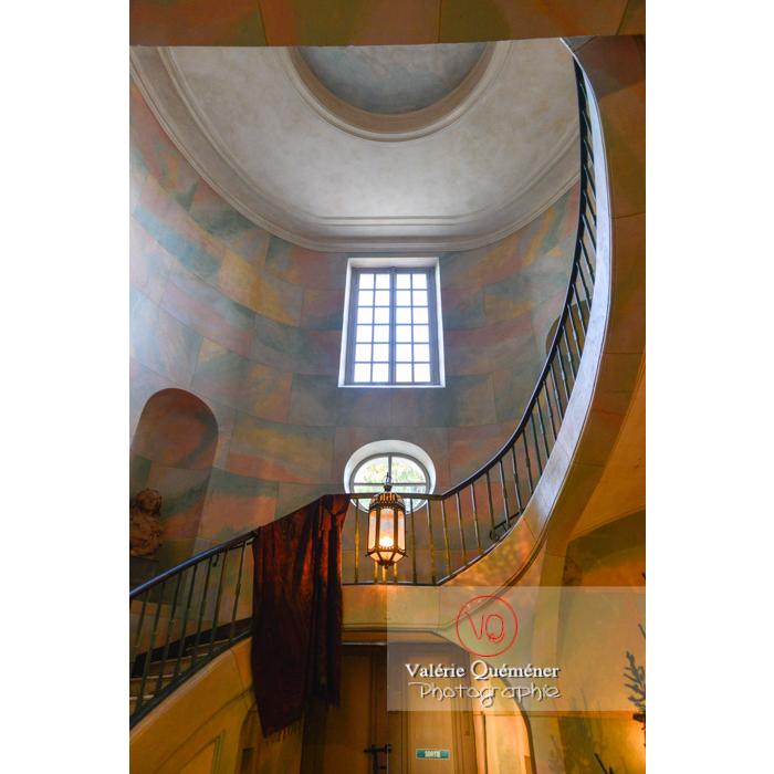 Hall intérieur maison de George Sand à Nohant-Vic / Indre - Réf : VQFR36-0008 (Q3)