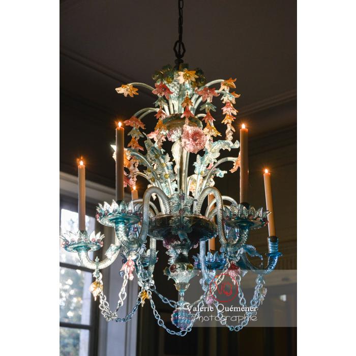 Lustre de Murano dans la maison de George Sand à Nohant-Vic / Indre - Réf : VQFR36-0009 (Q3)