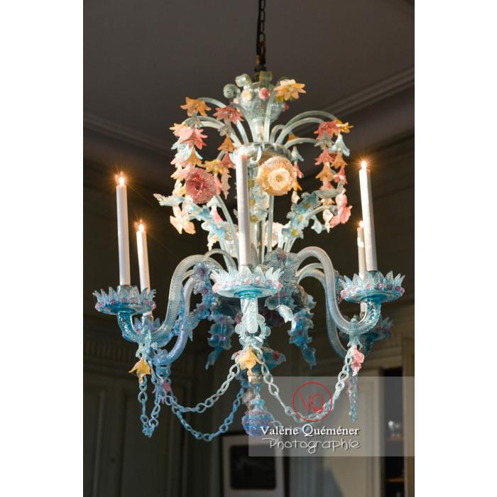 Lustre de Murano dans la maison de George Sand à Nohant-Vic / Indre - Réf : VQFR36-0010 (Q3)