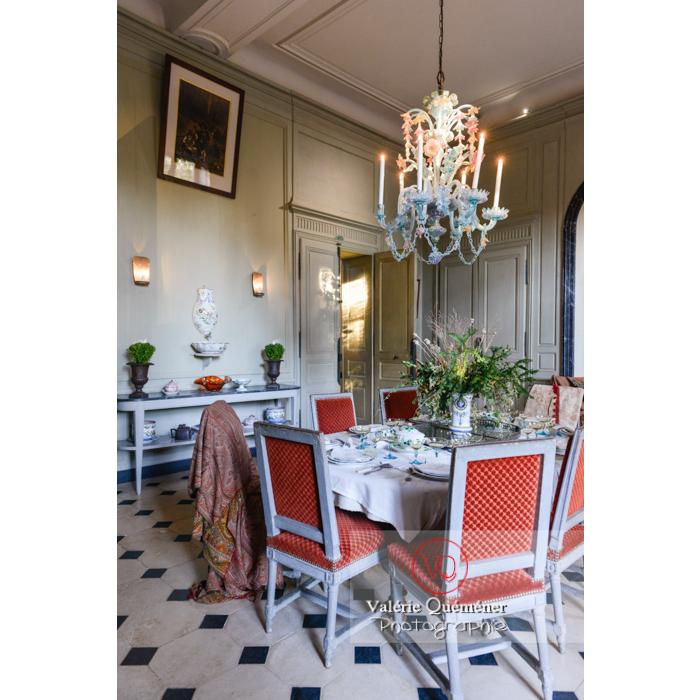 Salle de réception de la maison de George Sand à Nohant-Vic / Indre - Réf : VQFR36-0013 (Q3)