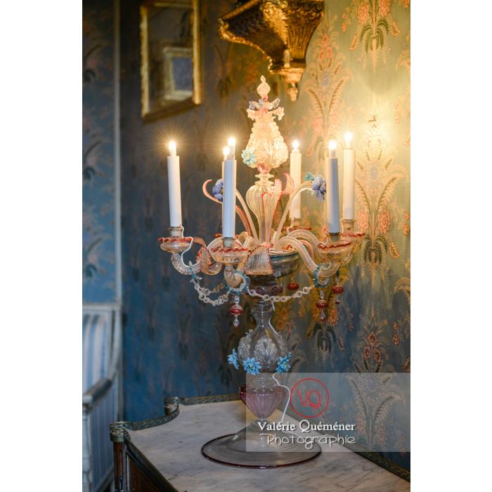 Lampe de Murano dans la maison de George Sand à Nohant-Vic / Indre - Réf : VQFR36-0014 (Q3)