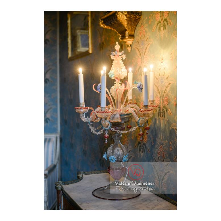 Chandelier de Murano dans la maison de George Sand à Nohant-Vic / Indre - Réf : VQFR36-0014 (Q3)