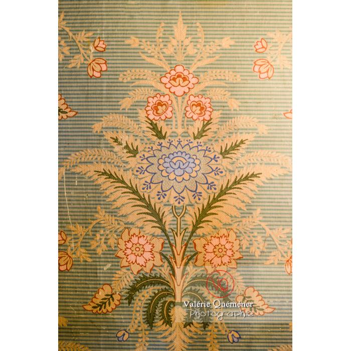 Papier peint dans la maison de George Sand à Nohant-Vic / Indre - Réf : VQFR36-0016 (Q3)