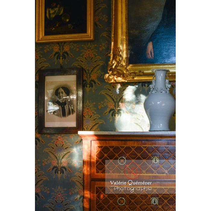 Pièce intérieur maison de George Sand à Nohant-Vic / Indre - Réf : VQFR36-0017 (Q3)