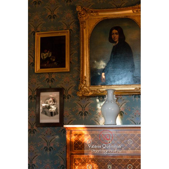 Détail mobilier dans la maison de George Sand à Nohant-Vic / Indre - Réf : VQFR36-0022 (Q3)