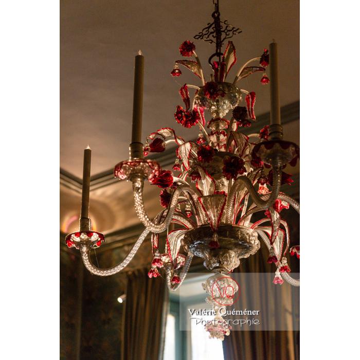 Lustre de Murano dans la maison de George Sand à Nohant-Vic / Indre - Réf : VQFR36-0024 (Q3)