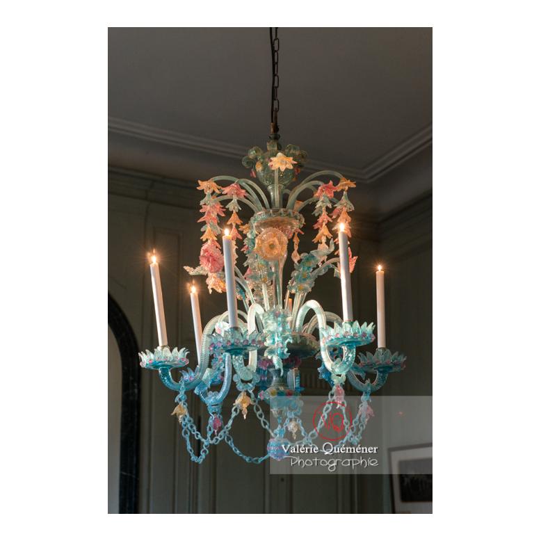 Lustre de Murano dans la maison de George Sand à Nohant-Vic / Indre - Réf : VQFR36-0027 (Q3)