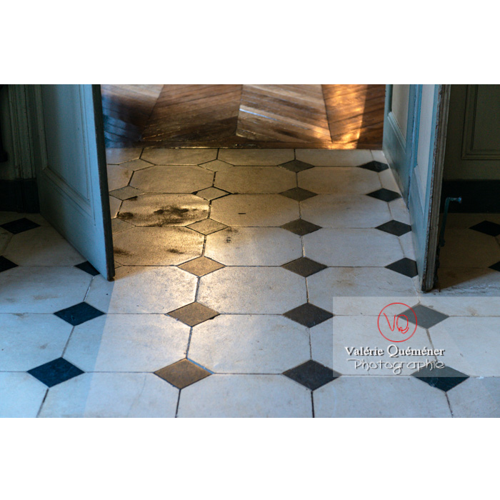 Détail sol de la maison de George Sand à Nohant-Vic / Indre - Réf : VQFR36-0028 (Q3)