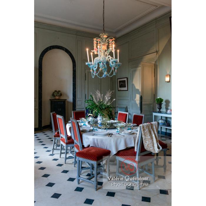 Salle de réception de la maison de George Sand à Nohant-Vic / Indre - Réf : VQFR36-0030 (Q3)