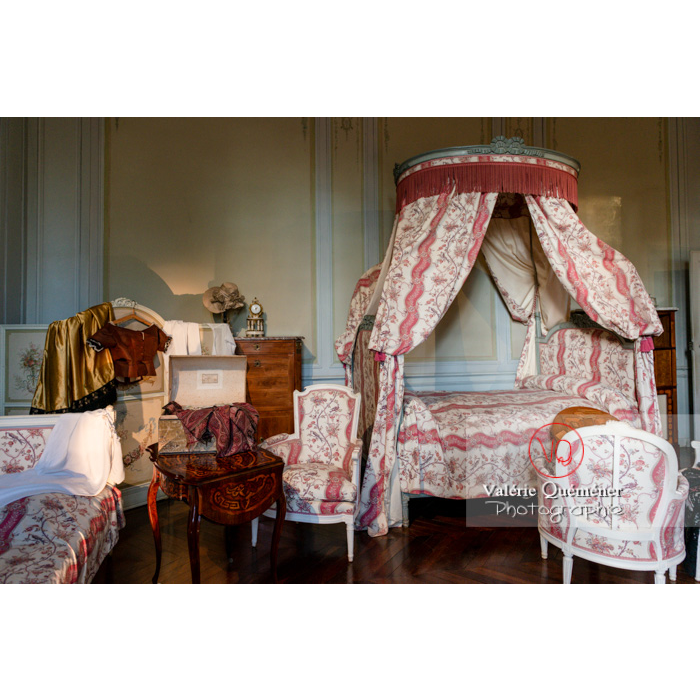 Chambre de la maison de George Sand à Nohant-Vic / Indre - Réf : VQFR36-0034 (Q3)