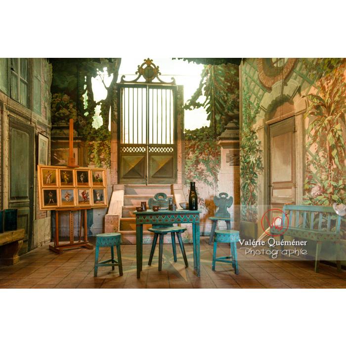 Théâtre dans la maison de George Sand à Nohant-Vic / Indre - Réf : VQFR36-0036 (Q3)