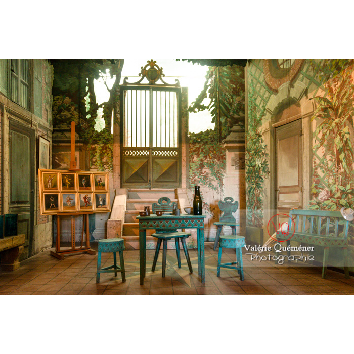 Intérieur maison de George Sand à Nohant-Vic - Réf : VQFR36-0036 (Q3)
