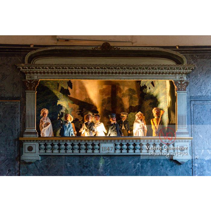 Théâtre de marionnettes dans la maison de George Sand à Nohant-Vic / Indre - Réf : VQFR36-0038 (Q3)
