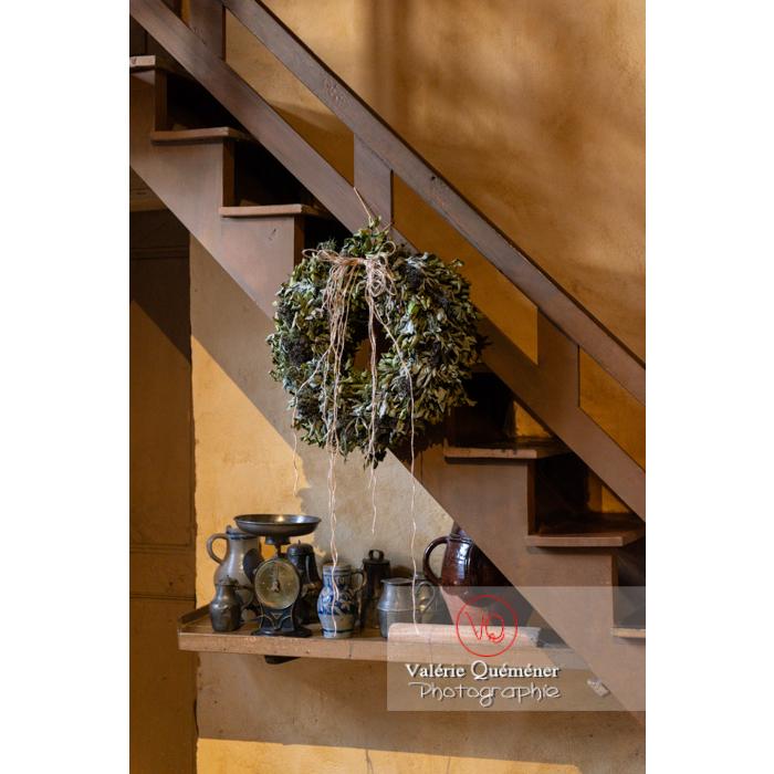 Détail de la cuisine de la maison de George Sand à Nohant-Vic / Indre / France - Réf : VQFR36-0043 (Q3)