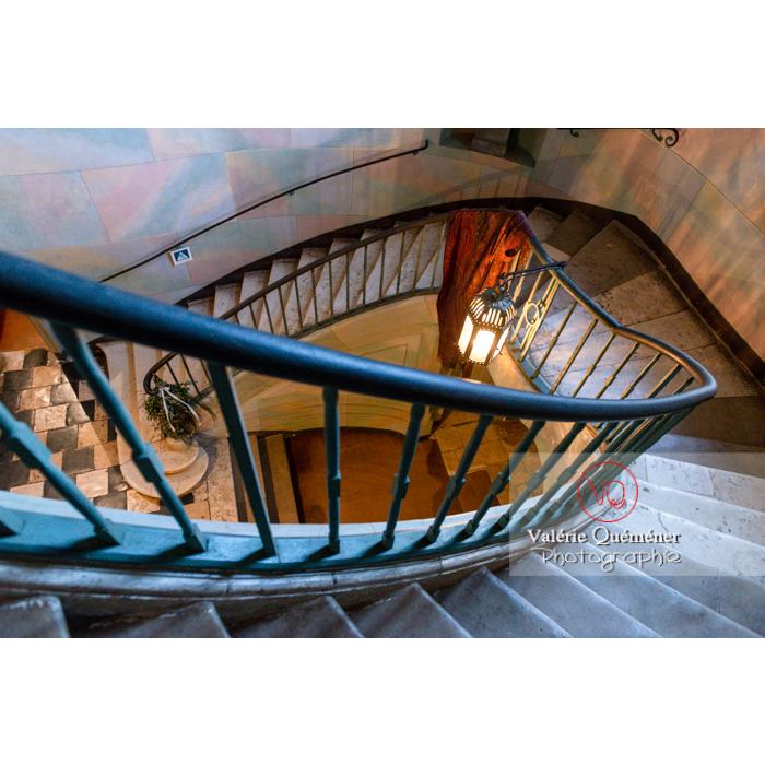 Escalier de la maison de George Sand à Nohant-Vic / Indre - Réf : VQFR36-0044 (Q3)