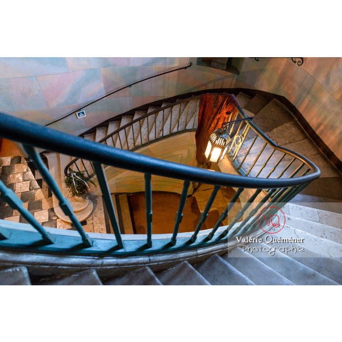 Escalier maison de George Sand à Nohant-Vic / Indre / Centre-Val-de-Loire- Réf : VQFR36-0044 (Q3)
