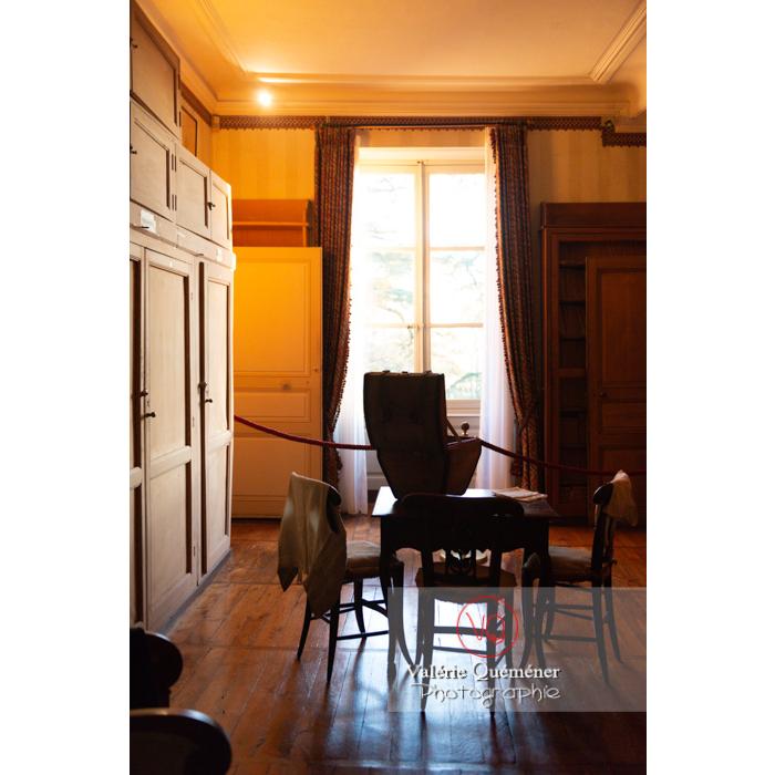 Pièce intérieur maison de George Sand à Nohant-Vic / Indre - Réf : VQFR36-0049 (Q3)