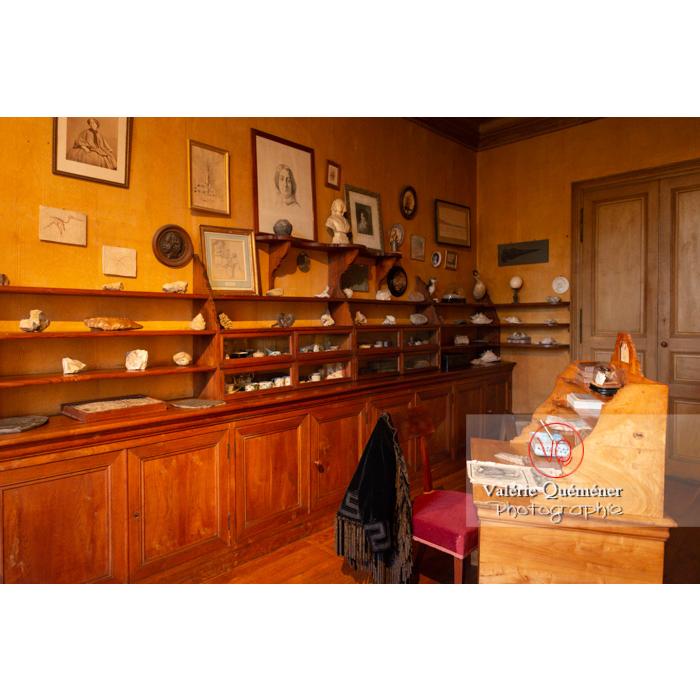 Pièce d'écriture de la maison de George Sand à Nohant-Vic / Indre - Réf : VQFR36-0058 (Q3)
