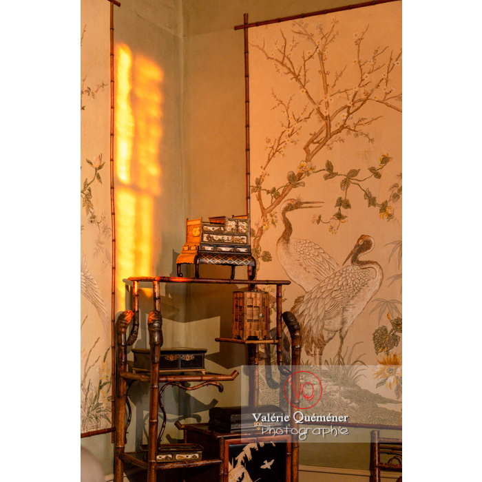 Pièce asiatique dans la maison de George Sand à Nohant-Vic / Indre - Réf : VQFR36-0063 (Q3)