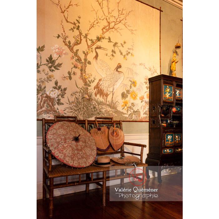 Pièce asiatique dans la maison de George Sand à Nohant-Vic / Indre - Réf : VQFR36-0064 (Q3)