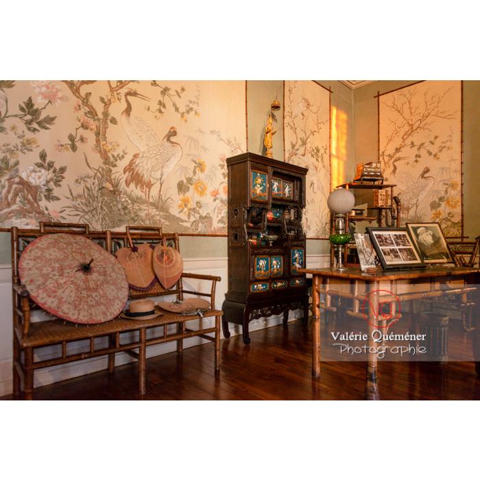 Pièce asiatique de la maison de George Sand à Nohant-Vic / Indre - Réf : VQFR36-0065 (Q3)