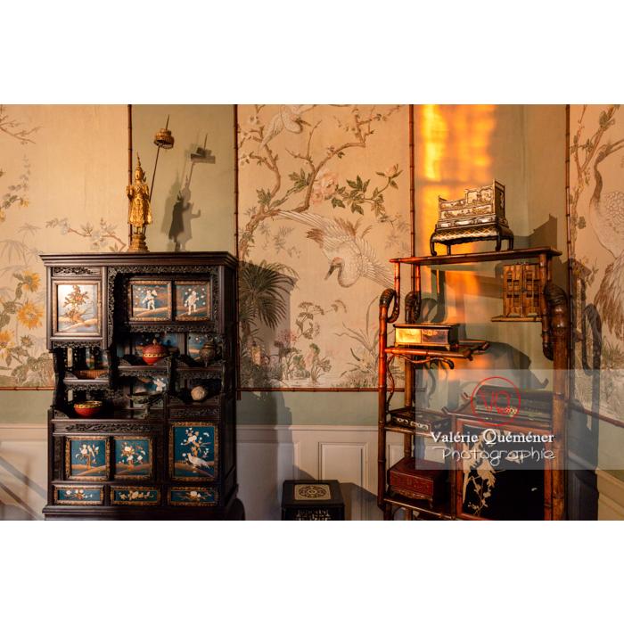 Pièce asiatique dans la maison de George Sand à Nohant-Vic / Indre - Réf : VQFR36-0066 (Q3)